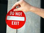 Do Not Enter Window Decals