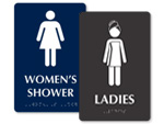 Women's Shower Room Signs