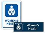 Women's Health Door Signs