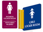 Women's Locker Room Signs