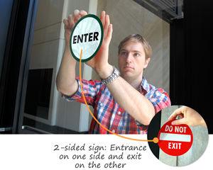 Die-Cut Entrance Door Signs