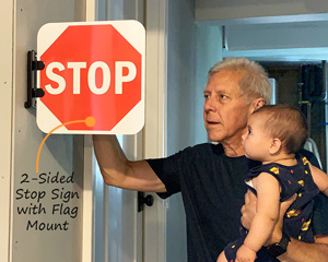 2-Sided Stop Sign with Flag Mount