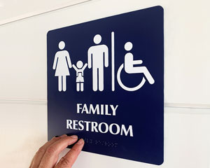 Family restroom sign