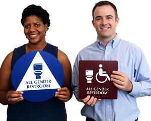 All-Gender Restroom Signs