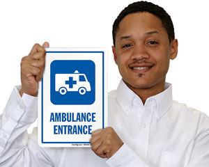 Ambulance Entrance Signs