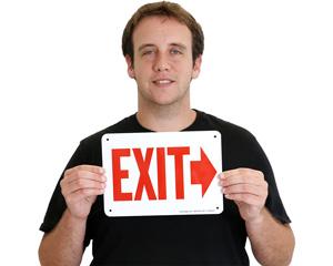 Arrow Exit Signs