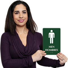 Bilingual Bathroom Signs