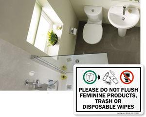 Bathroom Etiquette Signs