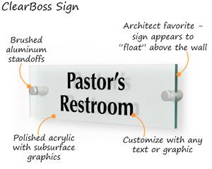 Bathroom sign with custom text
