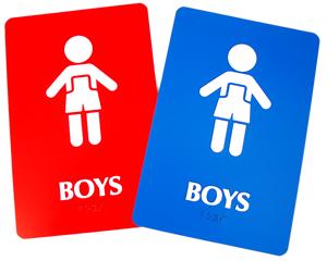 Boys Bathroom Signs