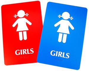 Girls Bathroom Signs