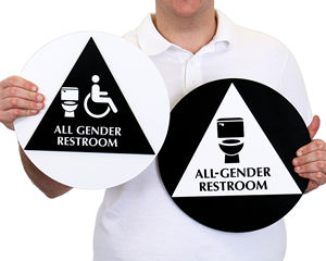California All-Gender Restroom Sign