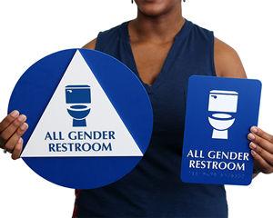 California All-Gender Restroom Sign Kits
