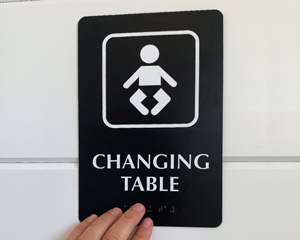 Changing table sign