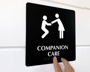Companion Care Elderly Bathroom Sign