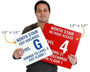 Custom stair signs