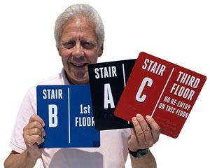 Custom stairway signs
