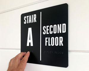 Custom stairwell sign
