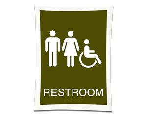 Deco Bathroom Signs
