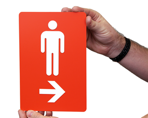 Directional Restroom Signs