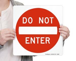 Do Not Enter Magnetic Door Signs
