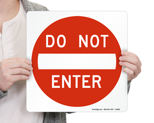 Do Not Enter Magnetic Door Signs