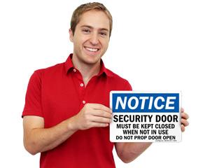 Do Not Prop Door Open Signs