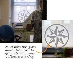 Glass Door Awareness Labels