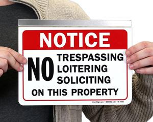 Restricted Area Door Signage