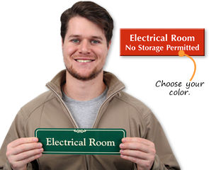 Electrical room door signage