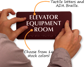 Elevator Room Signs