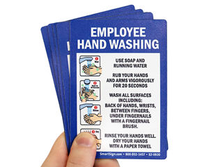Employee Hand Washing Instructions Sign with Graphics