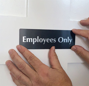 employees only door sign