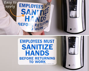 Sanitize Hands Before Returning To Work