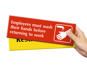 Select-a-Color™ 4 Inch x 12 Inch Engraved Signs