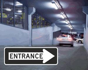 Entrance Arrow Signs