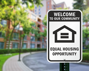 Equal housing sign