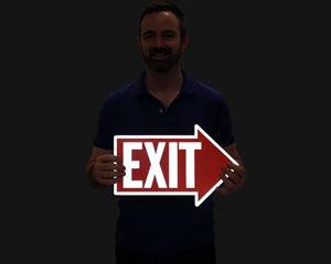 Exit arrow sign