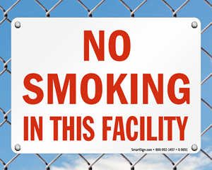 Facility No Smoking Signs