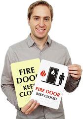 Fire Door Keep Closed Signs