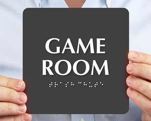 TactileTouch Game Room Signs