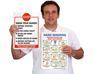 Hand Your Washing Instruction Signs