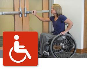 Handicapped Door Sign