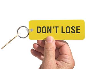 Hard to lose key tag