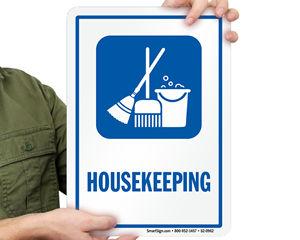 Housekeeping Door Signs