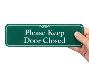 Keep Door Closed Labels