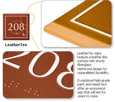 LeatherTex Office Door Signs