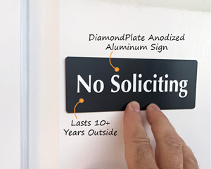 Low Cost No Soliciting Door Sign