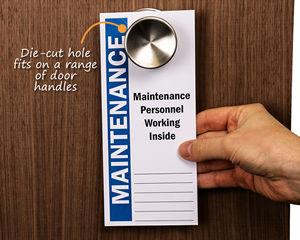 Maintenance personnel hangers