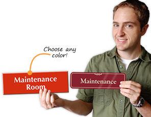 Maintenance Room Signs
